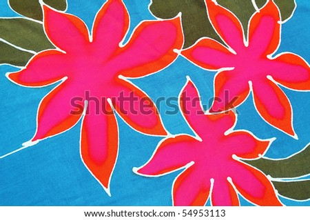 Tropical flowered background - stock photo
