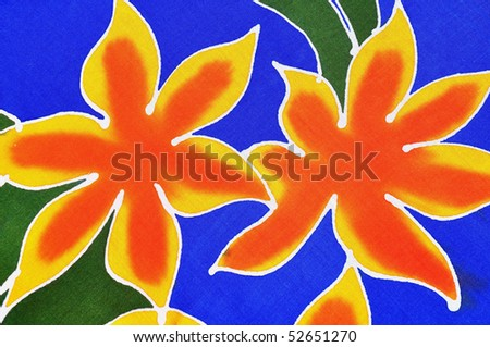 Tropical Flowers useful as a background pattern - stock photo