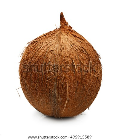 Tropical fruit coconut isolated
