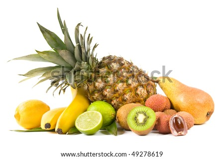 Tropical fruits - stock photo