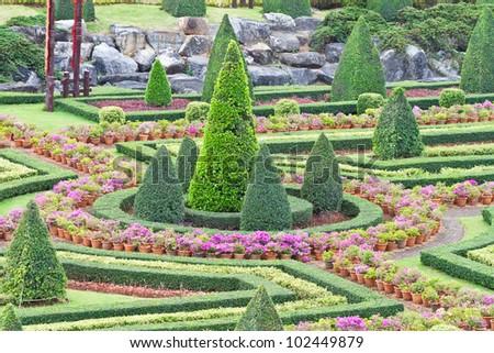 Tropical Garden - stock photo