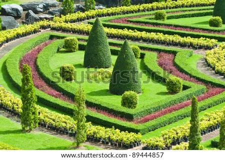 Tropical Garden in Pattaya, Thailand - stock photo