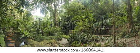 Tropical Garden, Malaysia - stock photo