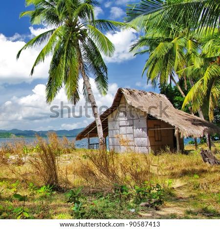 tropical getaway - stock photo