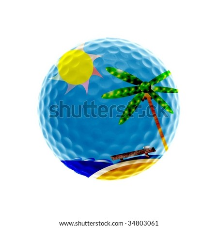 Tropical Golf-holidays - stock photo