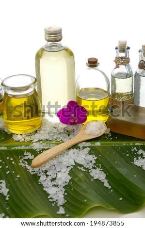 Tropical health spa sitting  - stock photo