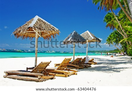 tropical holiday - stock photo