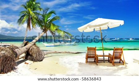 tropical holidays - stock photo