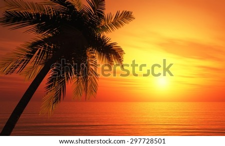 tropical island background 4 - stock photo