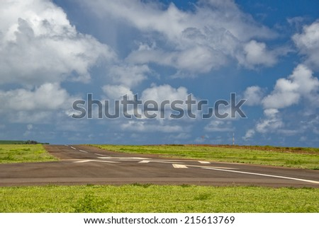 tropical island hawaii small airport - stock photo
