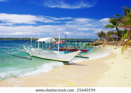 tropical island' hopping - stock photo