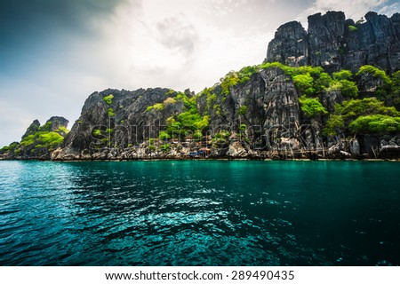 tropical island, Koh Tao, Thailand - stock photo