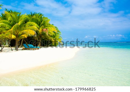 Tropical Island Paradise - stock photo