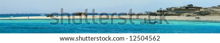 Tropical island scenery, Red Sea, Egypt - stock photo