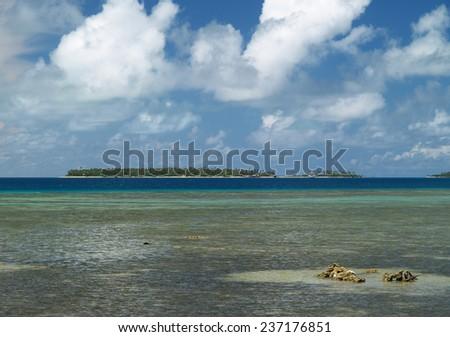 Tropical island, Tonga - stock photo