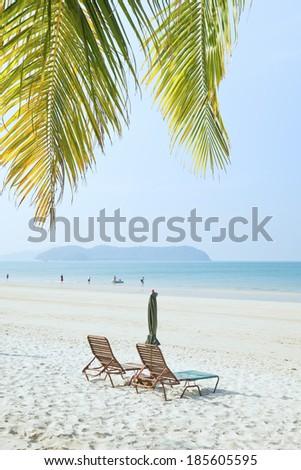 tropical island view - stock photo