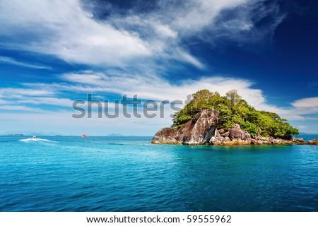 Tropical islands, Trat archipelago, Thailand - stock photo