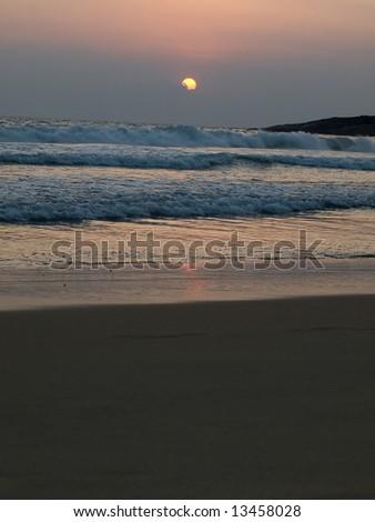 Tropical Kovalam beach, Kerala, India - stock photo