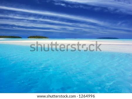 Tropical Lagoon - stock photo