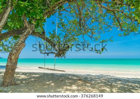 Tropical landscape of Similan islands, Khao Lak Thailand - stock photo