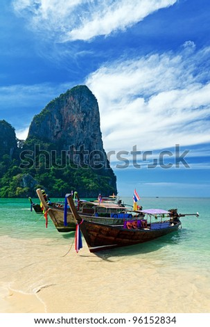 Tropical landscape. Railay Beach. Thailand.