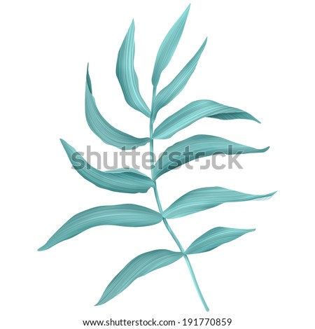 Tropical leaves. seamless fashion pattern - stock photo