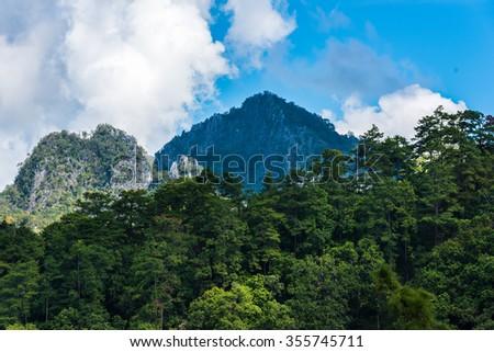 Tropical Mountain Range,Thailand - stock photo