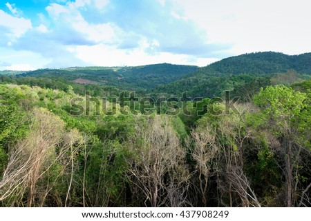 Tropical Mountain Range,This place is in the national park,Thailand - stock photo