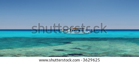 Tropical ocean and a boat