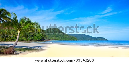 Tropical Panorama - stock photo