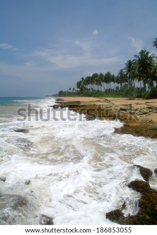 Tropical paradise beach. - stock photo