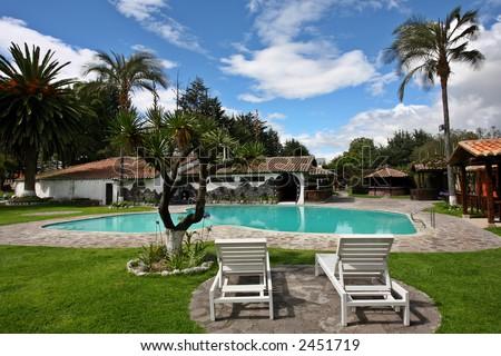 Tropical Pool - stock photo