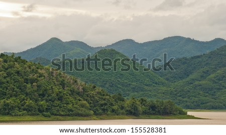 tropical rainforest, kaeng krachan, thailand - stock photo