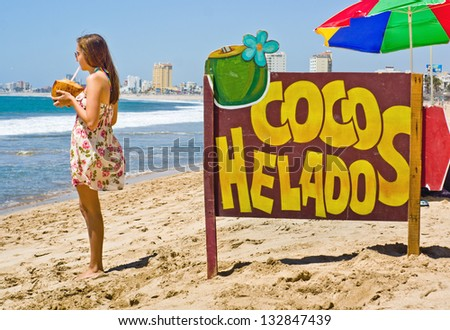Tropical Refreshment - stock photo