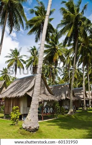 Tropical Resort in Samui island,Thailand - stock photo