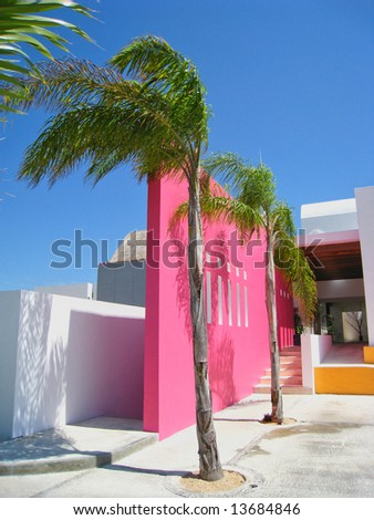 Tropical Resort Spa Entry - stock photo