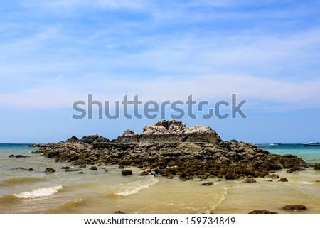 tropical rocky beaches island in Thailand - stock photo