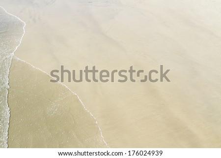tropical sand beach background - stock photo