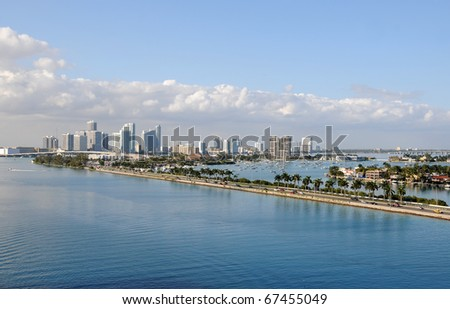 Tropical scenery from Miami's waterfront areas