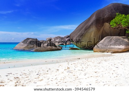 Tropical scenery of Similan islands, Thailand - stock photo