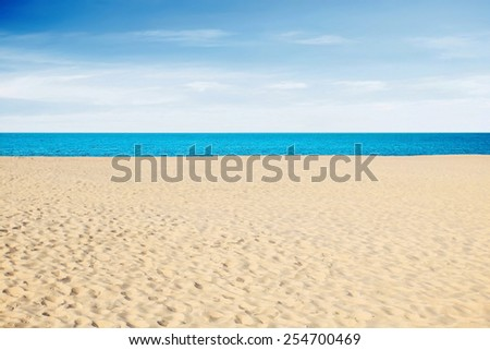 Tropical sea and beach in hot summer day - stock photo