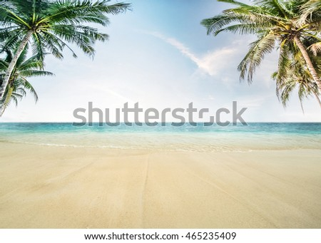 Tropical sea and cloudy sky