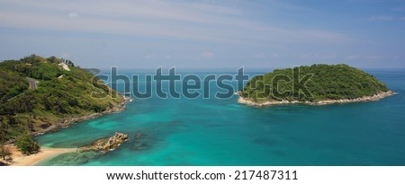 Tropical sea scenery. Panoramic composition in very high resolution in phuket thailand - stock photo