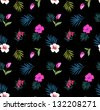 tropical seamless flowers background for pattern design,isolated floral pattern for tropical theme, carnival feeling for beach styles - stock photo
