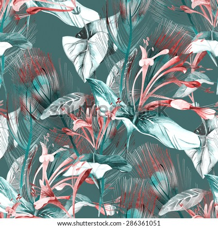Tropical Seamless Pattern - stock photo