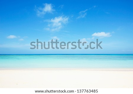 tropical seascape - stock photo