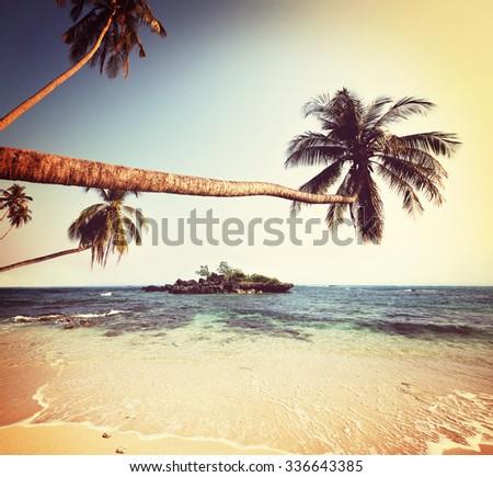 Tropical serenity beach - stock photo