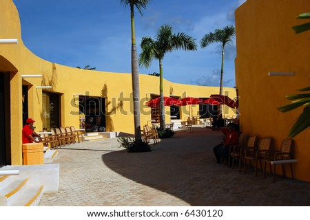 Tropical Shopping Mall - stock photo