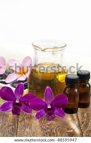 Tropical spa concept - stock photo