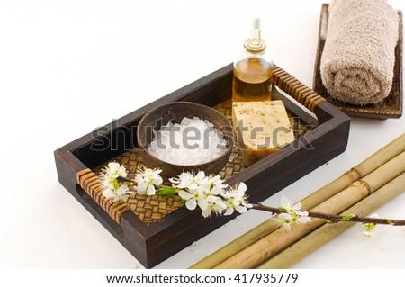 Tropical spa setting  - stock photo